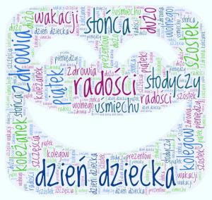 """Praca w Word Art """"Życzenia"""" Dominika Zalewskiego ucz. kl. 7"""